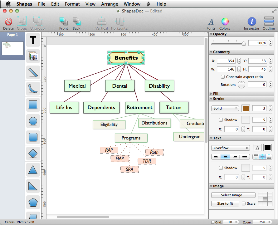 celestial teapot software shapes 26 - Mac Diagramming Tool