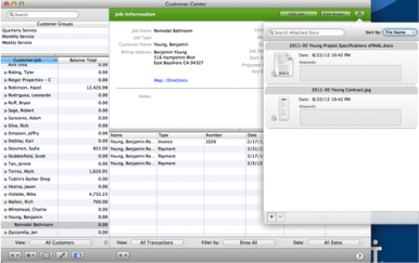 QuickBooks 2013: file attachments