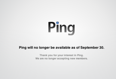 Apple's Ping to cease operation Sep  30 | Macworld