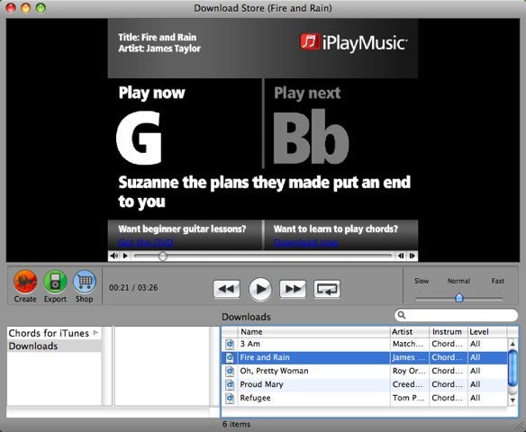 First look: iPlayMusic Chords for iTunes | Macworld