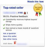 eBay ratings