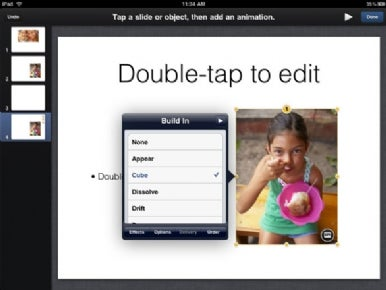 Selecting animations in Keynote