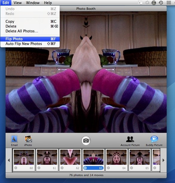 Photo Booth and flipped images | Macworld