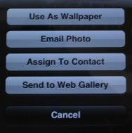 iPhone e-mail photo