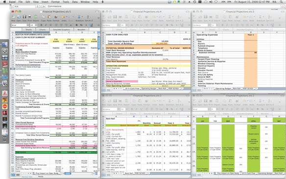 View multiple Excel sheets