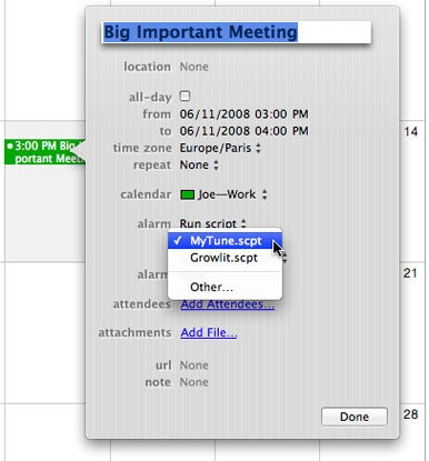 AppleScripts as iCal alerts