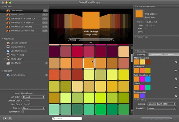 start with a base color by scanning something in create a new color on your own or choose a color from the built in pantone color palettes then watch as - Pantone Color Manager