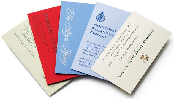 Get noticed with custom business cards macworld classic business cards reheart Images