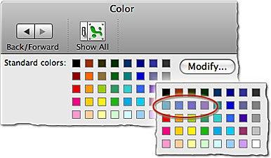 Change Standard-Palette Colors