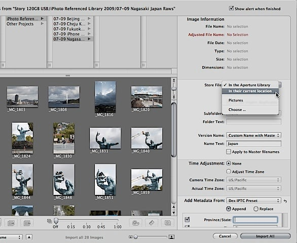 Store photos outside of iPhoto's library | Macworld