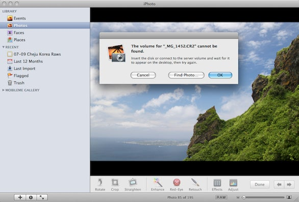 Find iphoto library manager