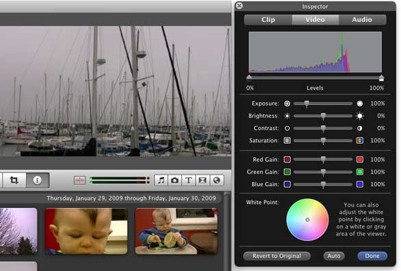 Color-correct your video in iMovie | Macworld