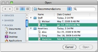 Select and open multiple files