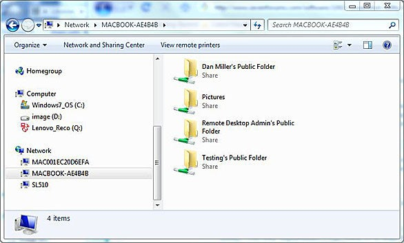 Share Mac files with Windows 7