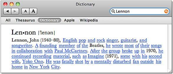 Dictionary links