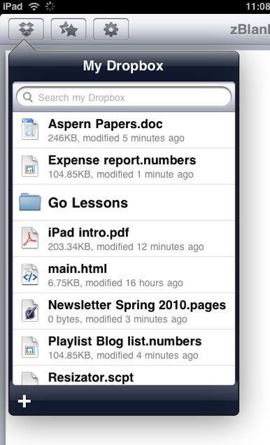 how to close dropbox on ipad