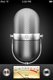 iPod voice memo