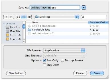 save script as app