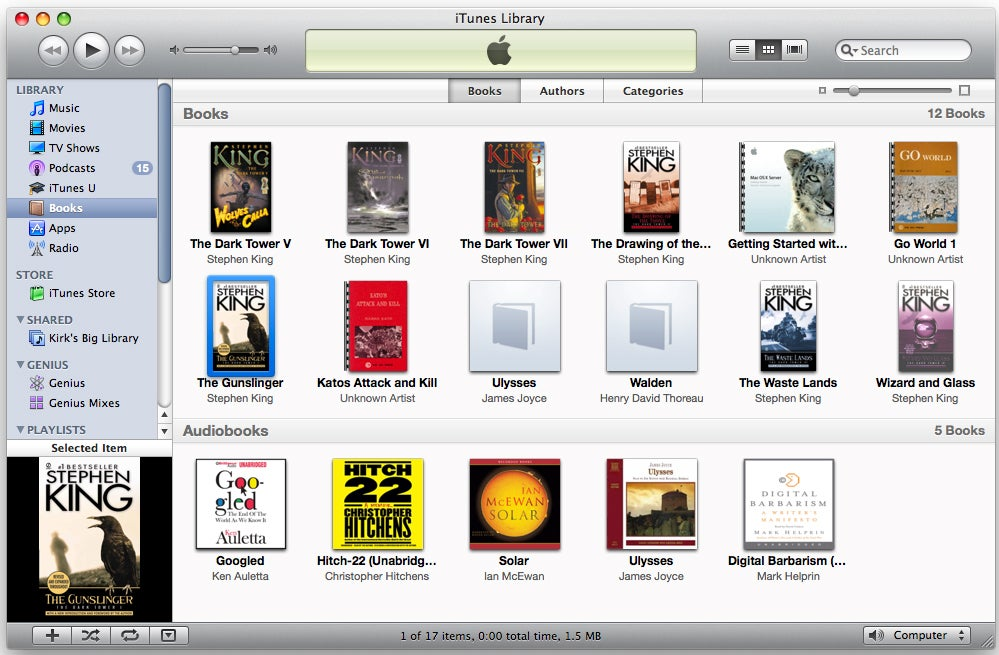how to find audiobooks on iphone organize e books in itunes macworld 18802