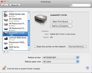 how to connect printer to wifi mac
