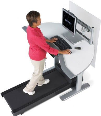 Ready Made Treadmill Desks, Like This Walkstation From Steelcase ($4,200),  Can Be Expensive. They Do Offer Many Convenient Touches, Like Readily  Accessible ...