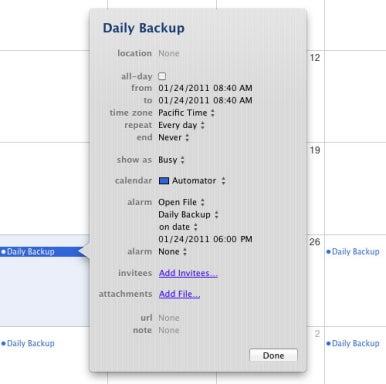 Workflow schedule