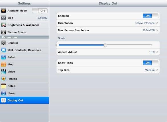 Projecting the iPad's entire interface | Macworld