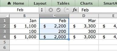 named range in Excel 2011