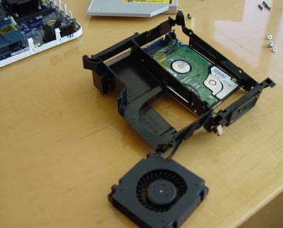 Mac Mini with fan removed