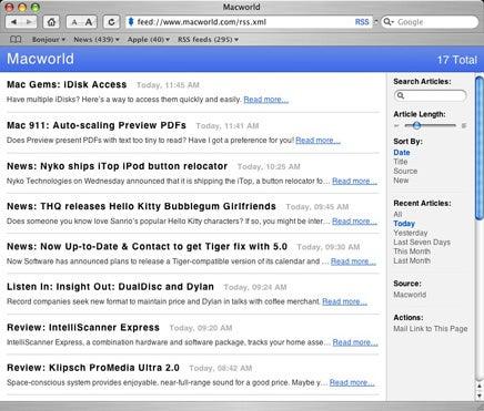 Safari RSS