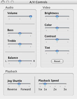 QuickTime AV Controls