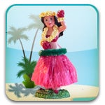 Hula Girl Widget