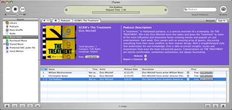 another itunes podcast interface