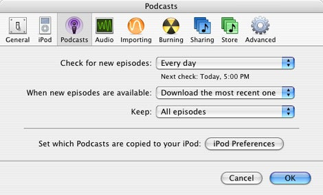 podcast preferences