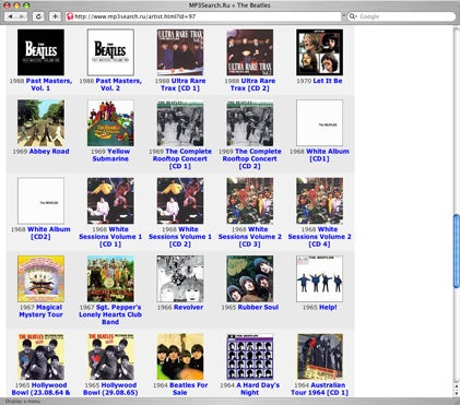 Beatles on MP3search