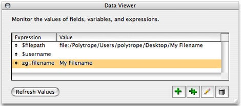 FileMaker 8 data viewer