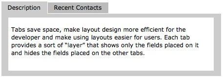 FileMaker 8 tabs