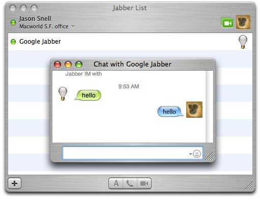 Google Talk on iChat