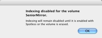 Spotless Disabled dialog