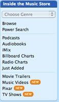 iTunes 6 menu
