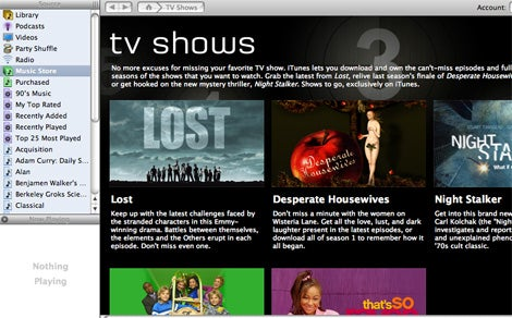 iTunes 6 TV shows