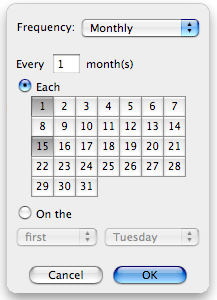 how to create a calender notice in ical