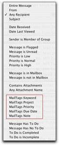 MailTags Smart Mail Criteria