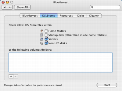 BlueHarvest .DS_Store options