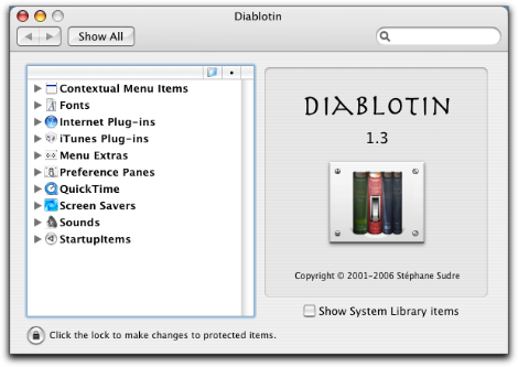 Diablotin main window