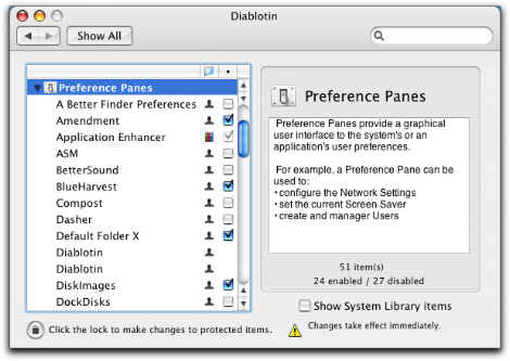 Diablotin System Preferences