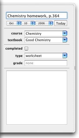 Assignment Planner task info