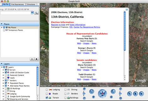 google earth election layer