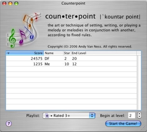 Counterpoint setup