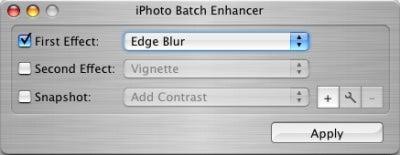 iPhoto Batch Enhancer main window